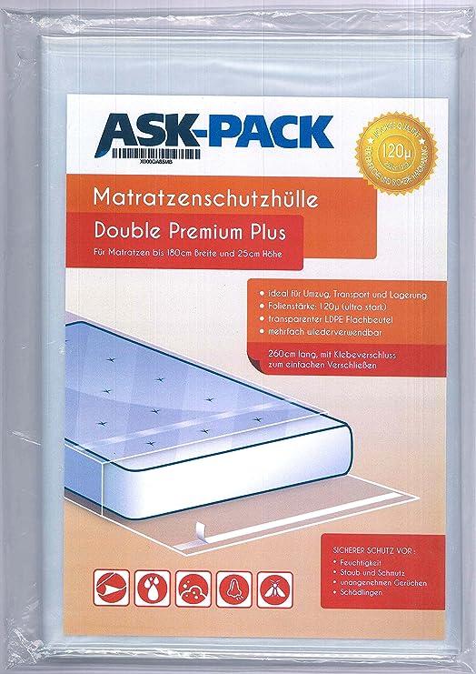 ASK Pack Bolsa de Colchón Double Premium para un Colchón de 180cm ...