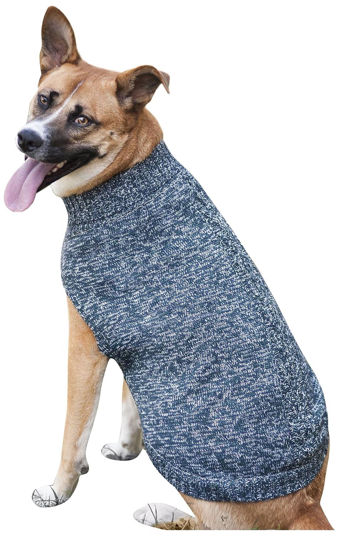Fashion Pet Tonal Marled Dog Sweater, X-Small, bluee