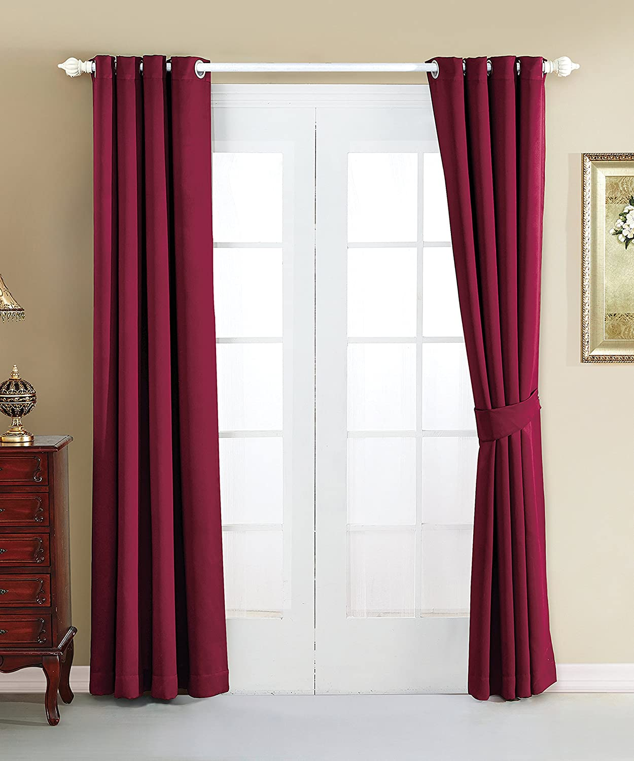 Serenta 4 Piece Grommet Darkening Thermal Insulated Blackout Window Panel Curtain