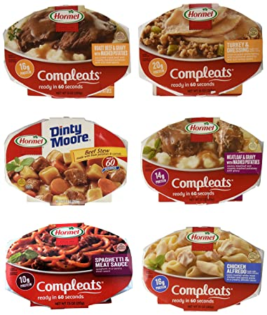 Amazon Com Hormel Compleats Meals Variety Flavors 6 Count 7 5