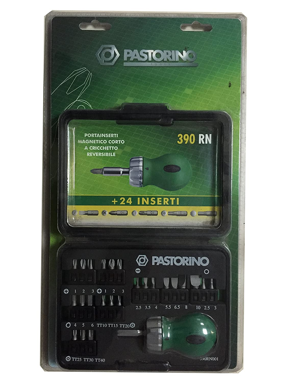 PASTORINO 390 RN Porta inserti magnetico corto Reversibile con 24 Inserti cambiabili Varie Misure