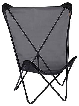 lafuma maxi pop up fun fauteuil pliant black tube noir - Fauteuil Pliant Lafuma