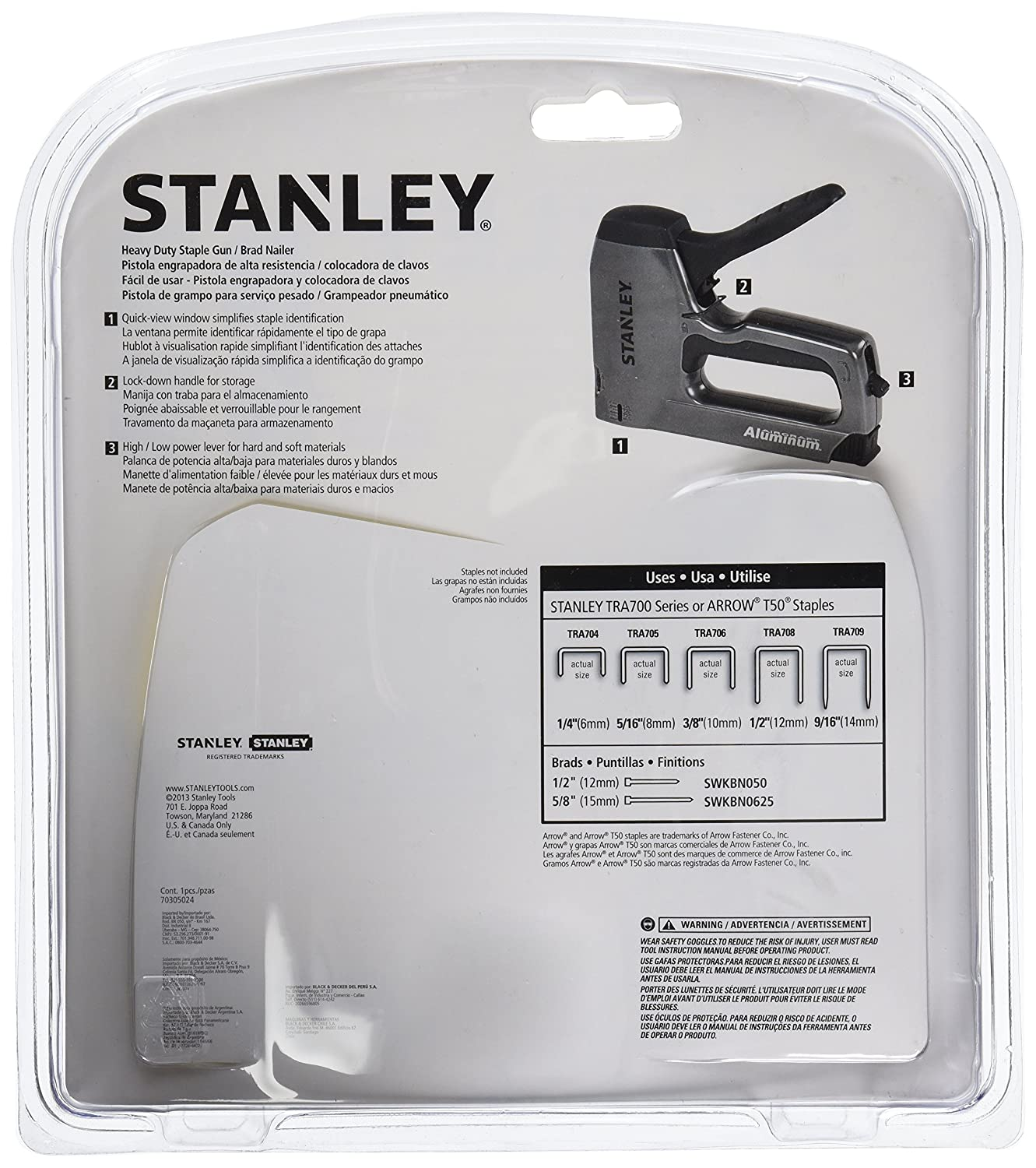 stanley tr45k light duty staple gun kit hand staplers and