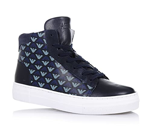 ARMANI - Sneaker stringata blu 41014ed4cde