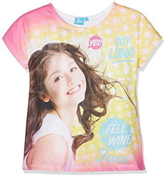 68b5997f3d088 SOY LUNA Girl's SLFS27119 T - Shirt, Pink (White), 6 Years: Amazon.co.uk:  Clothing