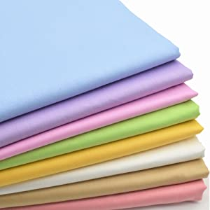 iNee Candy Solids Fat Quarters Fabric Bundles, Quilting Fabric for Sewing Crafting,18x22 inches,(Candy Solids)