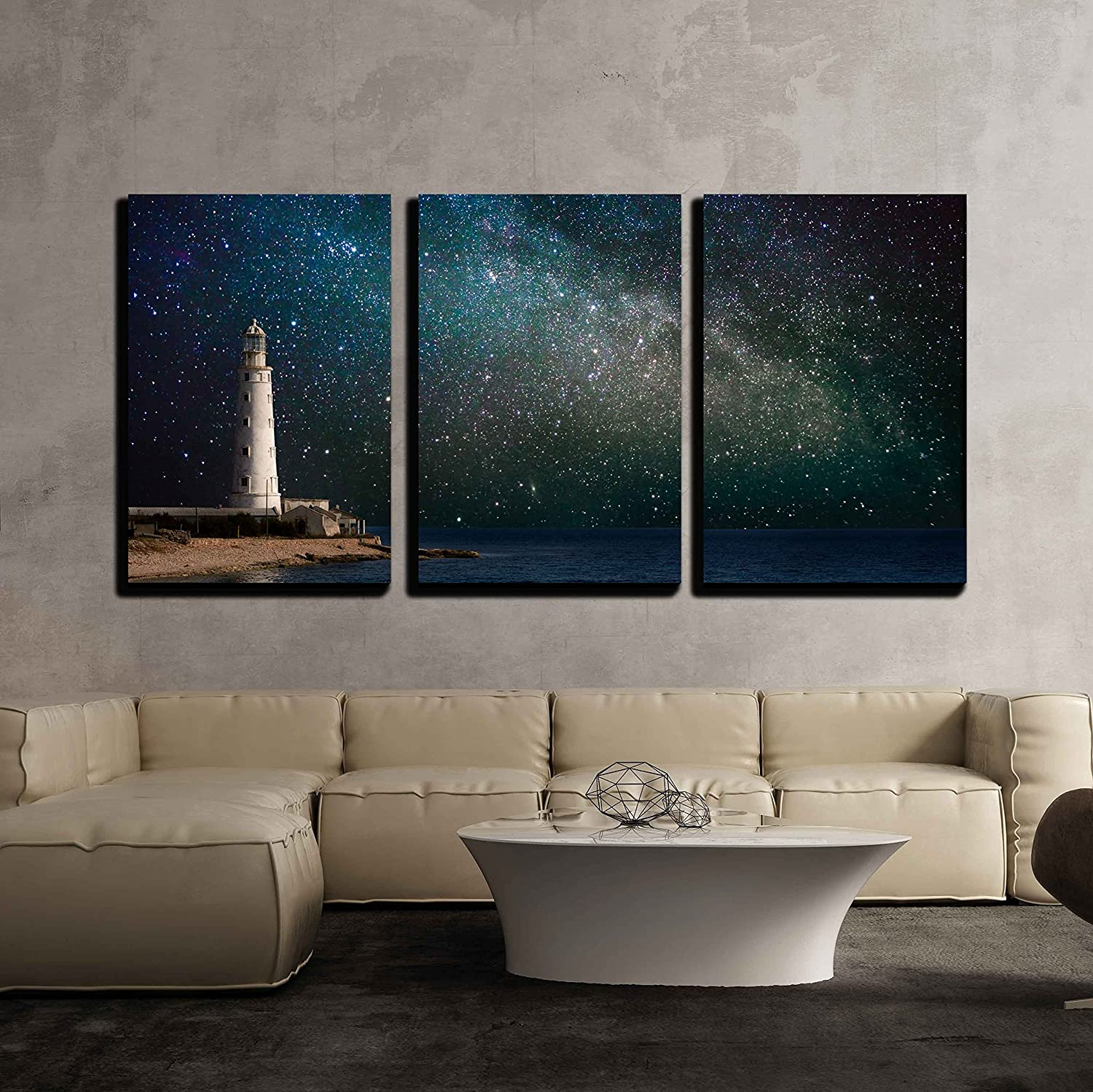 Wall26  3 Piece Canvas Wall Art  Lighthouse At