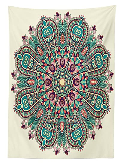 Amazon mandala decor tablecloth pastel mandala indian symbol of mandala decor tablecloth pastel mandala indian symbol of lotus flower with square and triangles artsy work mightylinksfo