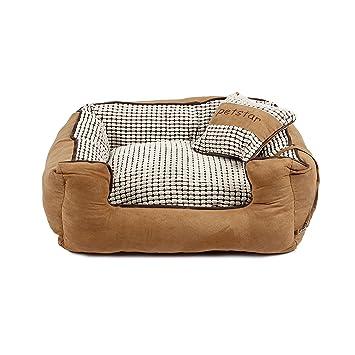 PAWZ Road Mascota Perro Cama Suede Tela Perro casa diseño de la Cremallera Desmontable Lavable
