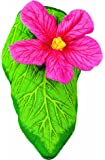 Hibiscus Oven Mitt, Quilted Cotton, Designed for Light Duty Use, by Boston Warehouse