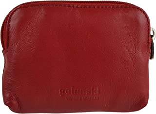 Ladies Super Soft LEATHER Coin Purse in 10 Colours by Golunski Credit Cards (Black)