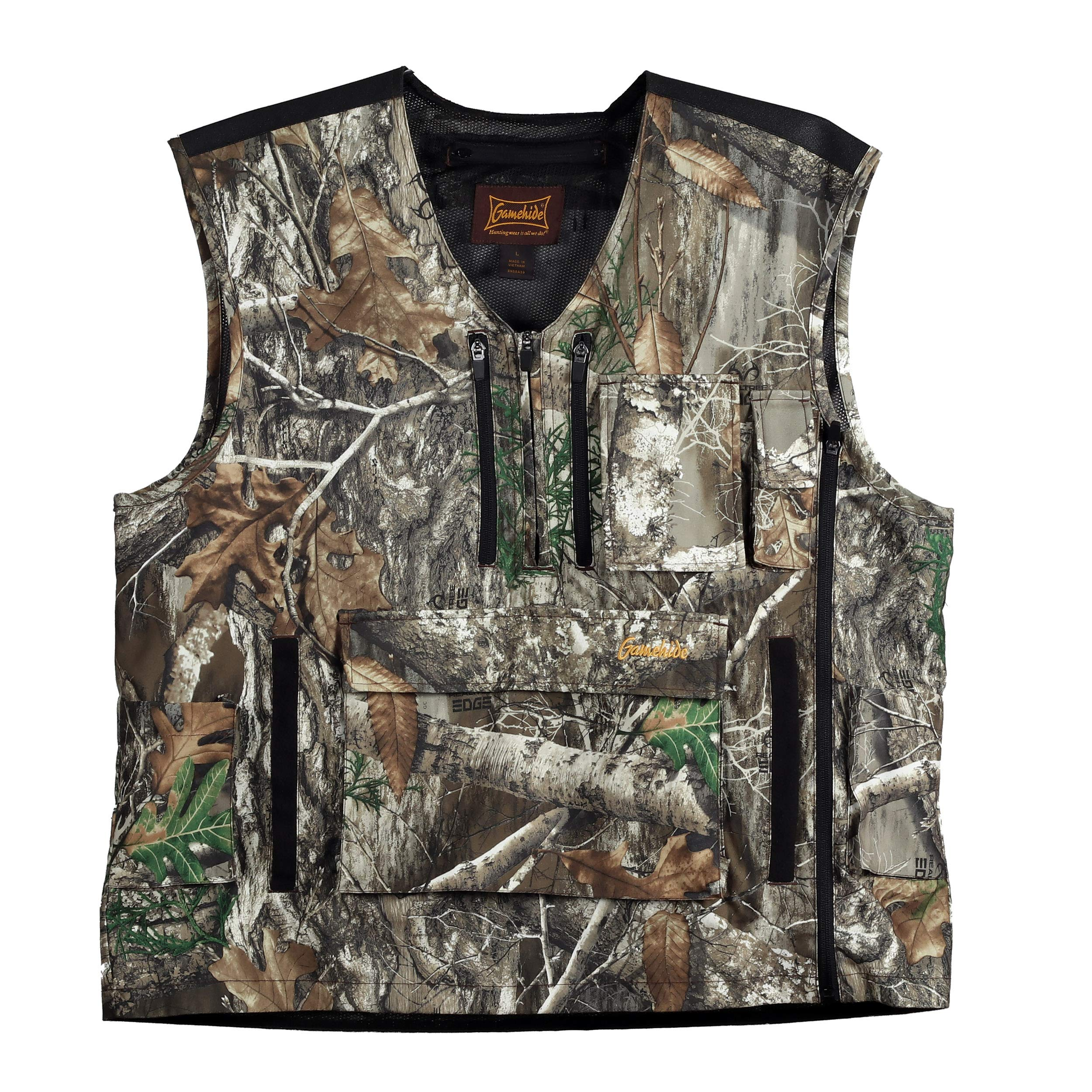 Mountain Pass Extreme Big Game Blaze Orange Camo Hunting Vest (Realtree Edge, 4X-Large) by Gamehide