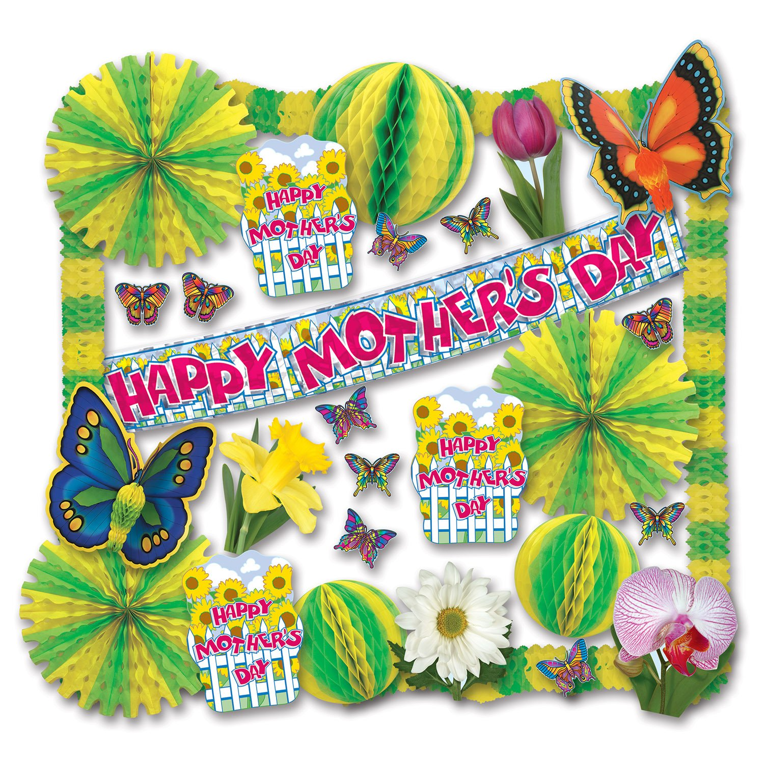 Mother's Day Decorating Kit - 30 Pcs Party Accessory (1 count)