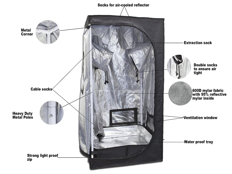 sc 1 st  Amazon.com & Amazon.com : 247Garden Gbox Mylar Grow Tent 2x2x4 : Garden u0026 Outdoor