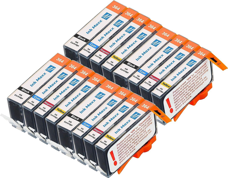 Ink Maxx – Cartucho de tinta refabricado para usar en lugar de HP 364XL (/ / / pack de 16): Amazon.es: Electrónica