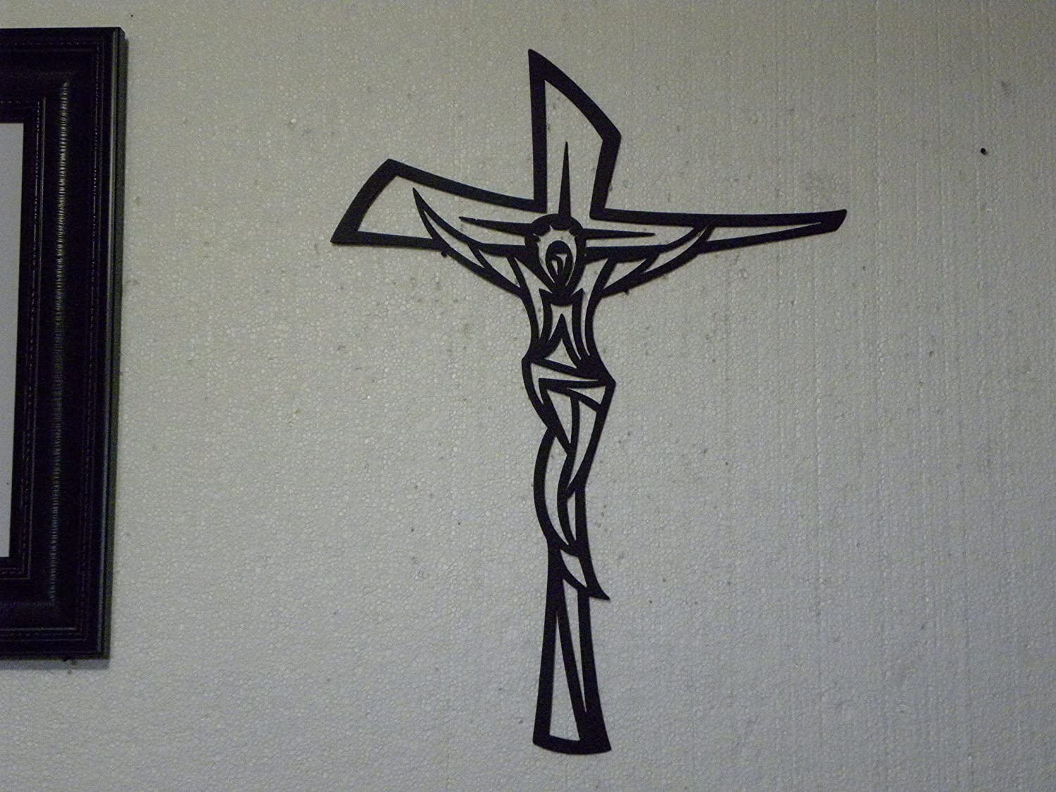 Amazon.com: Wall Cross Modern Metal Wall Sign Religious Home Decor: Home U0026  Kitchen