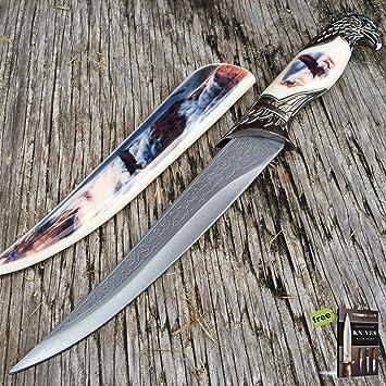 Amazon.com: SURVIVAL STEEL - Cuchillo de afilado de hoja ...