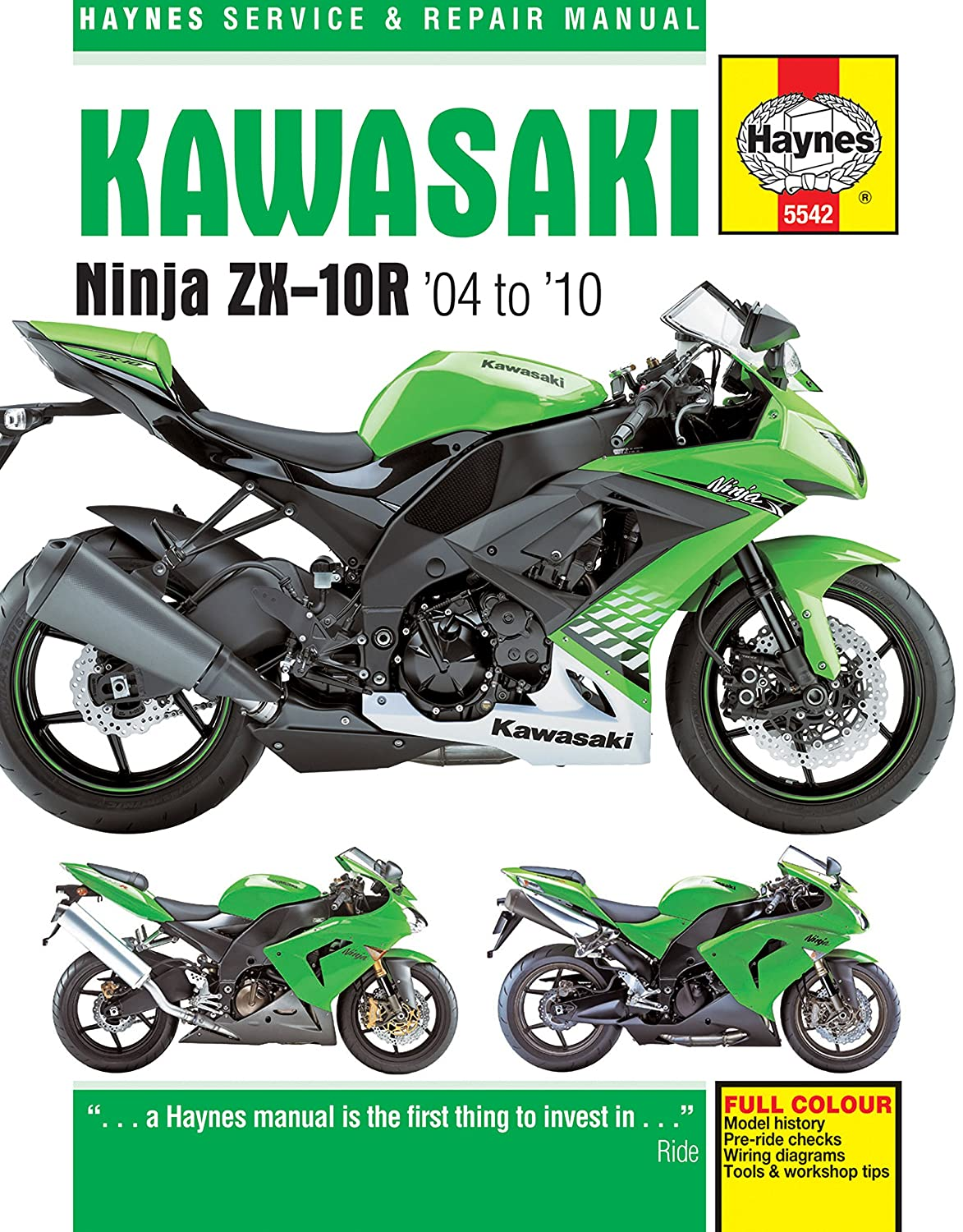 Amazon.com: 2004-2010 Kawasaki Ninja ZX10R HAYNES REPAIR MANUAL: Automotive