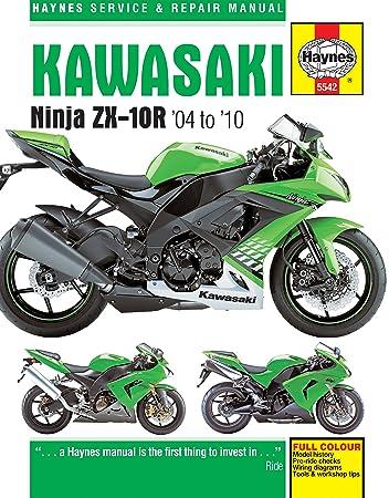 amazon com 2004 2010 kawasaki ninja zx10r haynes repair manual rh amazon com