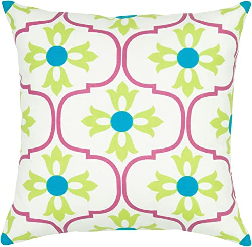 Rizzy Home T05645 Decorative Pillow, 18 X18 , Pink