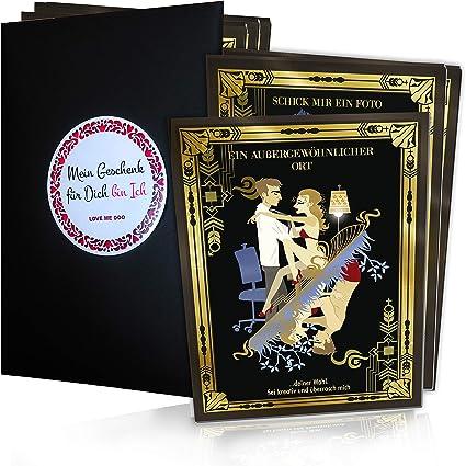 12 tarjetas eróticas de cupones para parejas, cupones sexis para él y para ella, regalo para el día de San Valentín para hombres y mujeres, divertido juego erótico y sexual: Amazon.es: Oficina