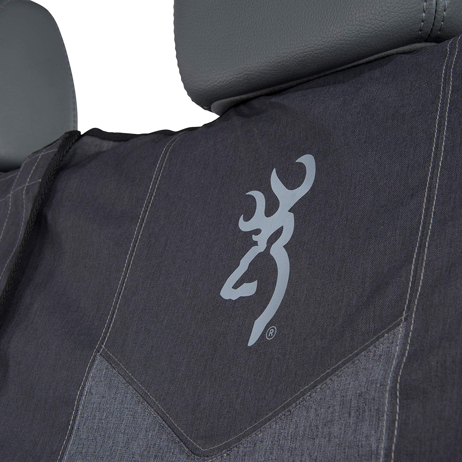 C000125500199 Heather Black SPG Bench Browning Camo Seat Cover Full Size Signature Products Group