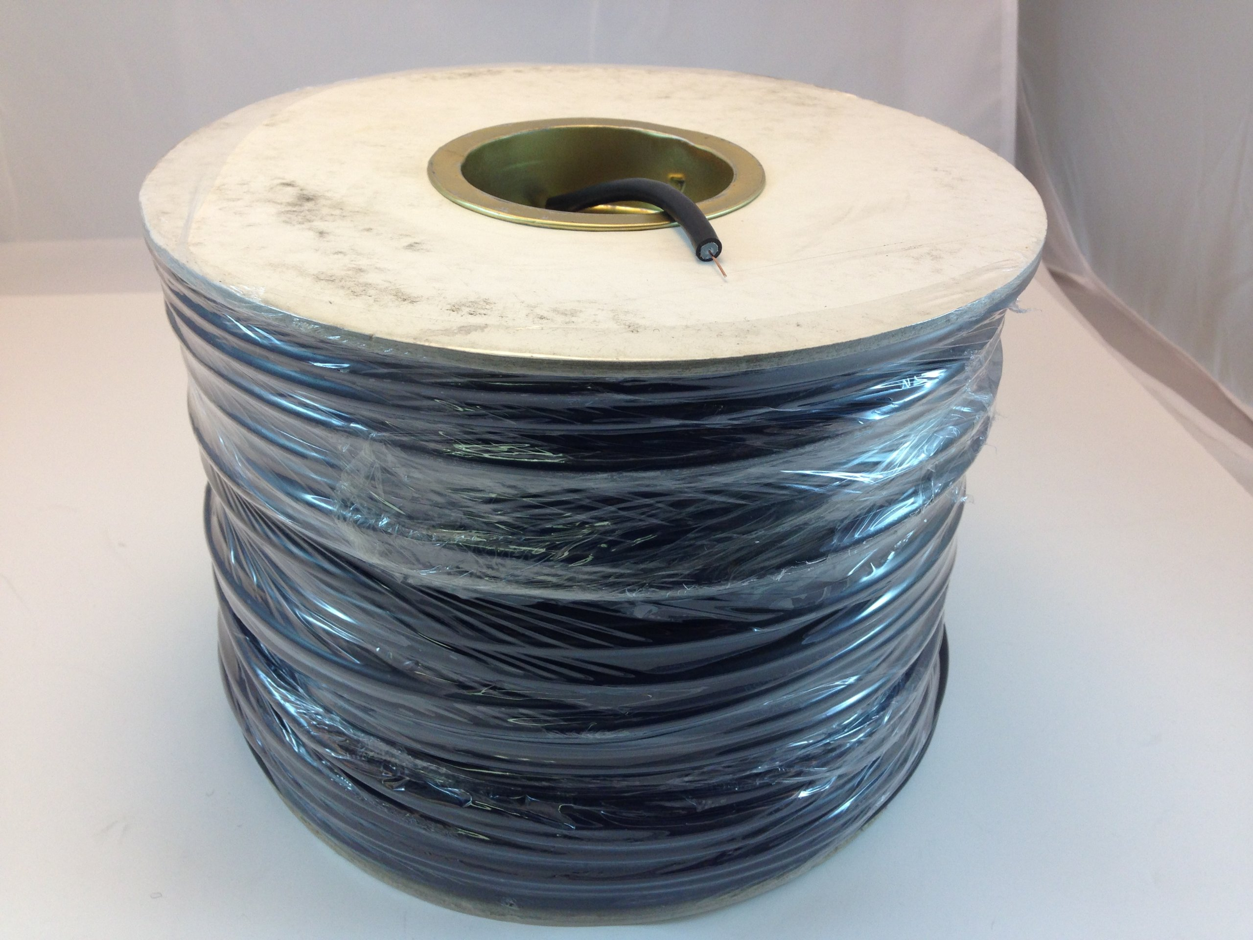 RG59U 500FT ROLL COAXIAL CABLE BLACK FOIL & BRAID SHIELD