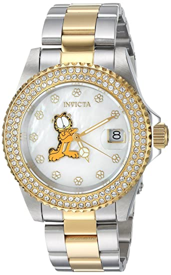 Amazon.com: Invicta Womens Quartz Watch with Two-Tone-Stainless-Steel Strap, 14 (Model: 24869: Watches