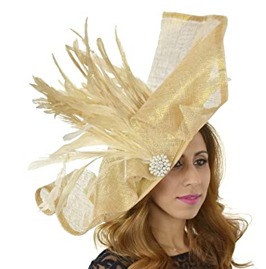 Gorgeous Maafaru Army Green Large Ascot Derby Fascinator Hat - With Headband cda762f3aad0