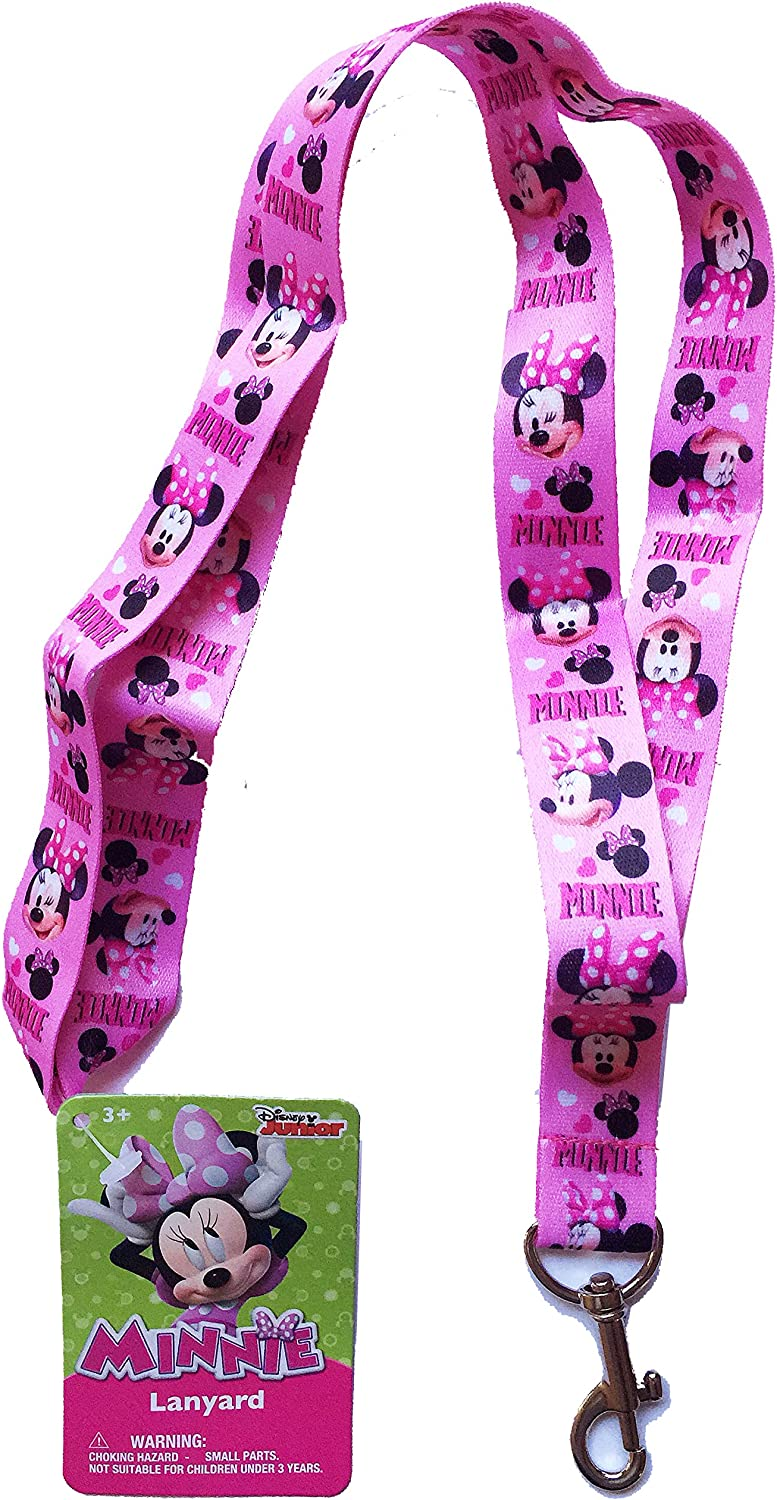Pink UPD Disney Minnie Mouse Bowtique Lanyard Keychain