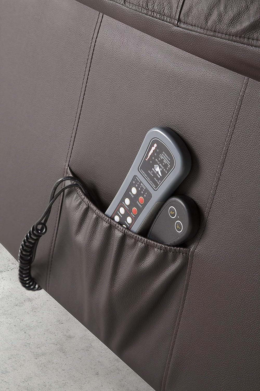 ECO-DE Sillón relax piel de vacuno, con sistema elevador ,masaje programable y calor lumbar ECO-8620UP