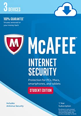 McAfee Internet Security 3 Device Student Edition [Online Code]