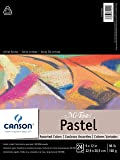 """CANSON Mi-Teintes Pastel Pad, Assorted Colors 9""""X12"""" Fold Over (100510864)"""