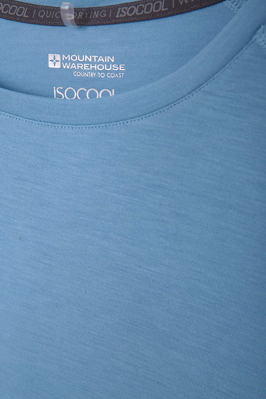 Camicia Rotonda del T del Collo Parte Superiore protetta UV delle Signore Mountain Warehouse T-Shirt Tecnico delle Donne di IsoCool Camicia Corta dei Manicotti