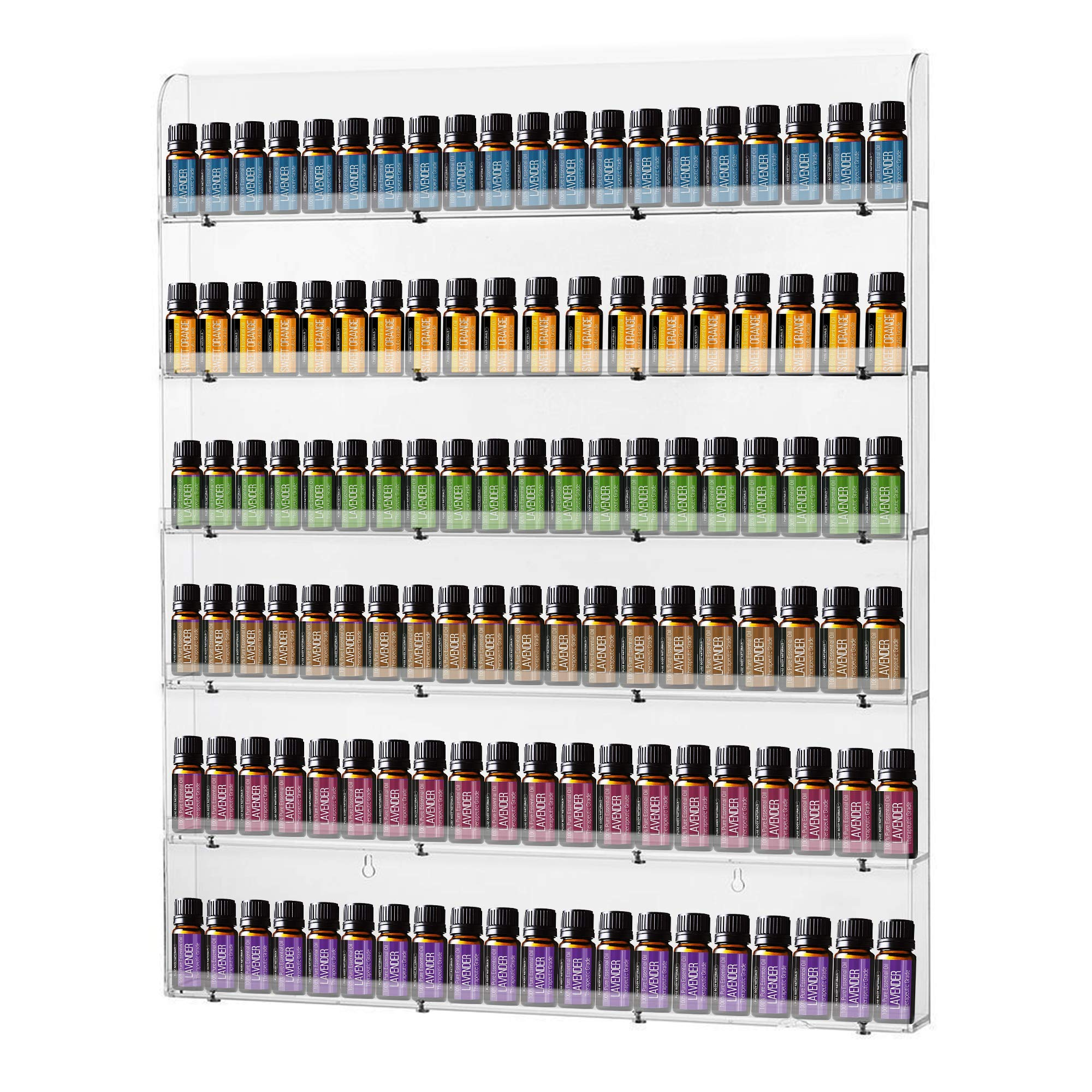 Nail Polish Wall Rack, AIFAIFA Storage Rack for Nail Polish, Essential Oil Storage and Display, Holds Up to 108 Bottles, Clear Acrylic