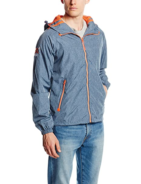 SUPERDRY Dual Zip Through Tri Colour CA, Abrigo Impermeable Para Hombre, Azul (Blue Marl/Jaffa VKG), M: Amazon.es: Ropa y accesorios