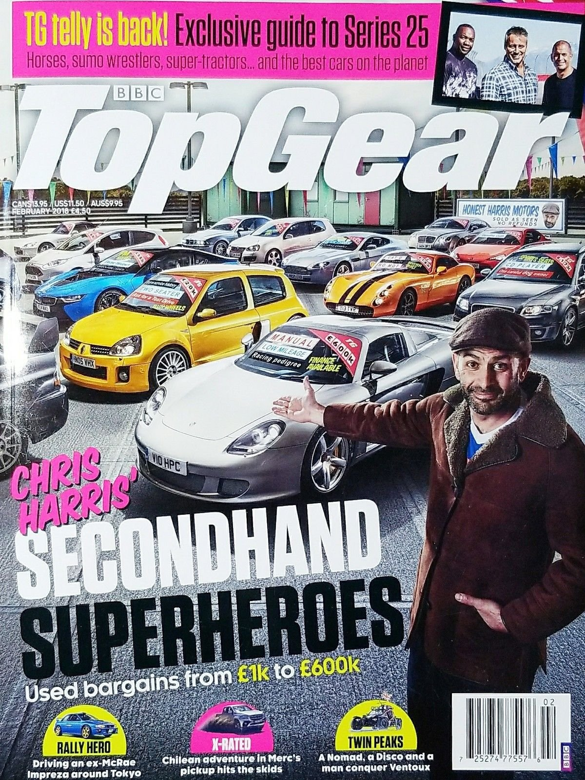 BBC TOP GEAR MAGAZINE FEBRUARY 2018 ISSUE 305 (HARRIS' SECONDHAND SUPERHEROES)^
