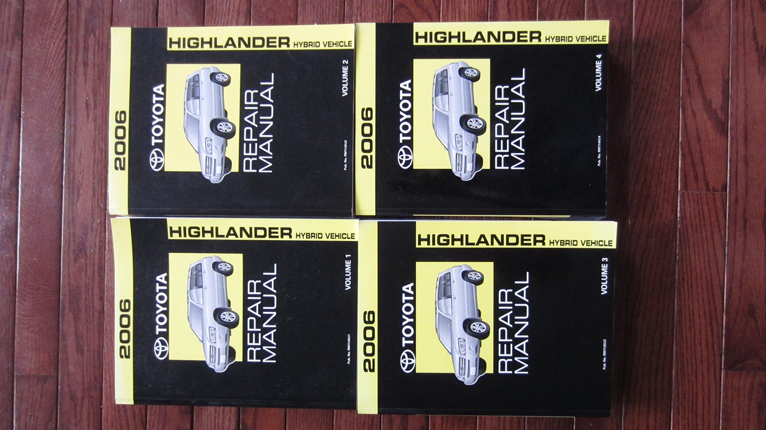 2006 toyota highlander hybrid repair manual