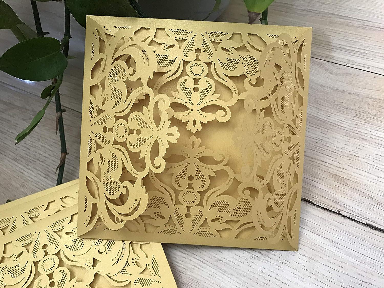 Personalised Laser Cut Wedding Invitation cards,Engagement invites-Pearl Ivory