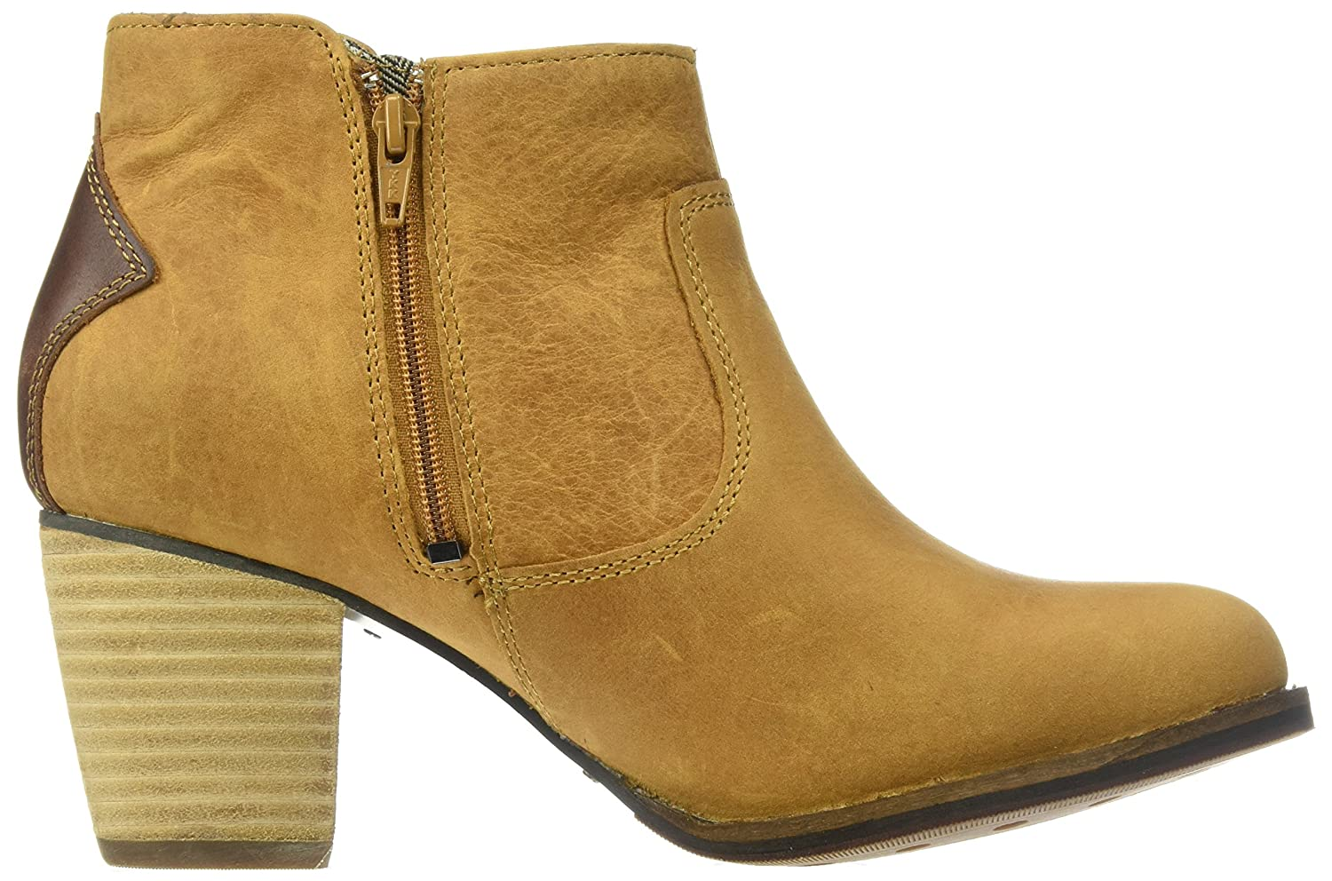 Amazon.com: Caterpillar Womens Trestle Waterproof Leather Bootie with Side Zip Abd Stacked Heel Ankle Boot: Shoes