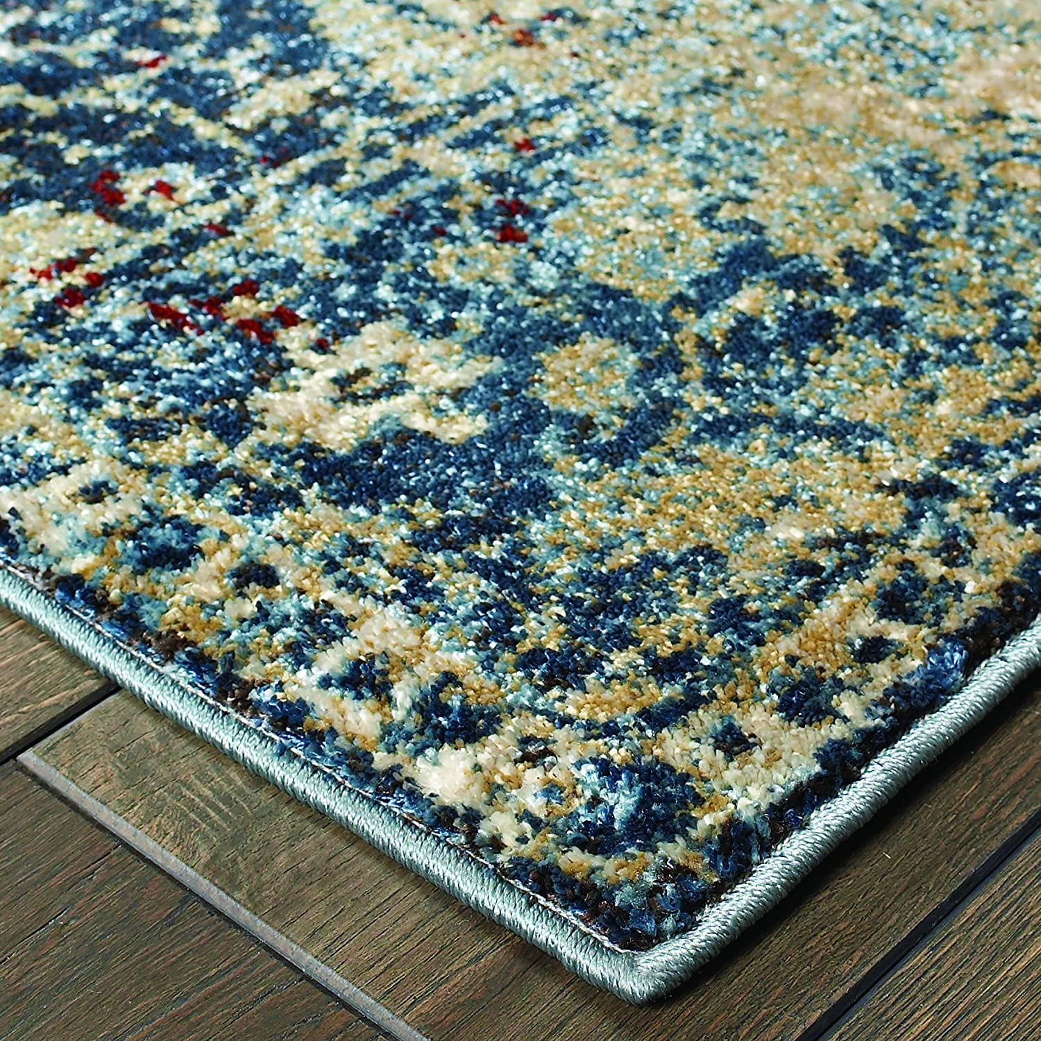 Christopher Knight Home CK-H9444 Emerald Vintage Medallion Indoor Area Rug 7ft 10in X 10ft 10in Gold Blue