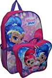 """Nickelodeon Girl Shimmer And Shine 16"""" Backpack With Detachable Matching Lunch Box"""