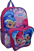 "Nickelodeon Girl Shimmer And Shine 16"" Backpack With Detachable Matching Lunch Box"