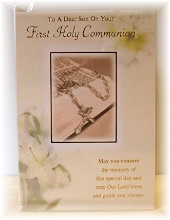 For you son on your first holy communion greetings card sons first for you son on your first holy communion greetings card sons first holy communoin card m4hsunfo