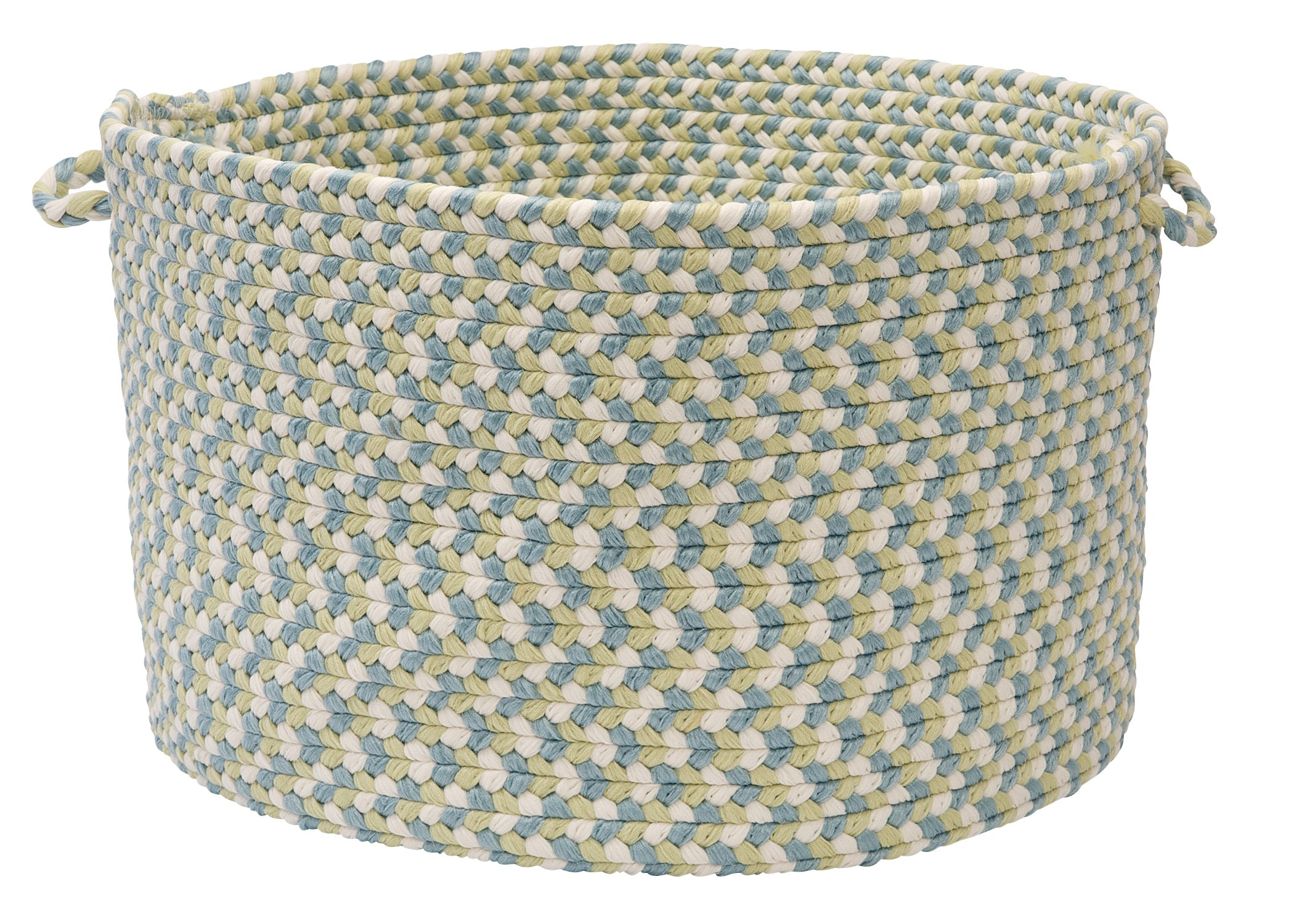 Colonial Mills Boston Common Utility Basket, 18 by 12-Inch, Driftwood Teal