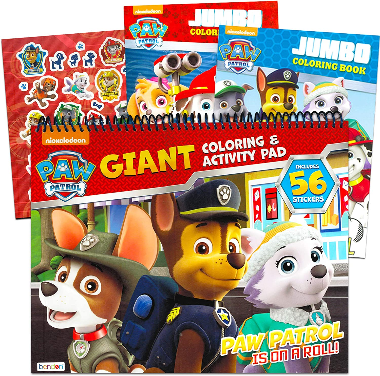 Paw Patrol Coloring And Activity Book Set 3 Coloring Books With Bonus Stickers