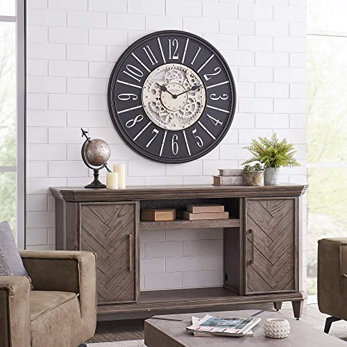 FirsTime Co. Bronze Montevello Farmhouse Gears Clock, American Crafted, Oil Rubbed Bronze, 36 x 2 x 36 ,