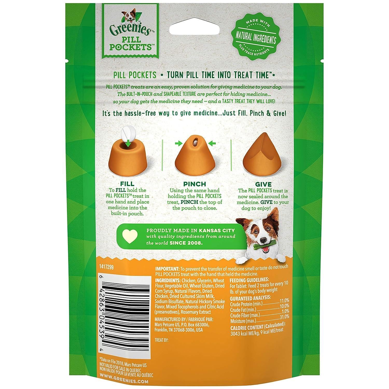 Greenies píldora Bolsillos Pollo Sabor alimento para Perros: Amazon.es: Productos para mascotas