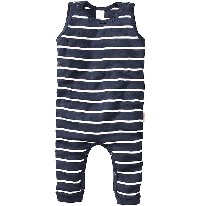 Baby-Overall mit Druckkn/öpfen im Schrittbereich /& aufgesetzten Taschen Bornino Strick-Strampler ohne Fu/ß Einteiler aus Reiner Baumwolle