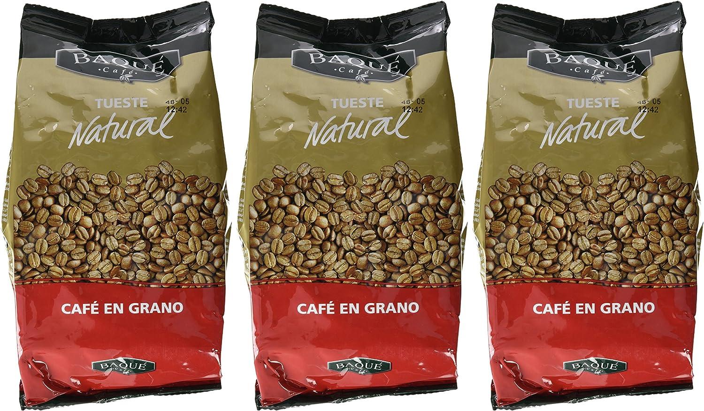 Cafés Baqué Café en Grano Natural - 500 gr - [Pack de 3]: Amazon ...